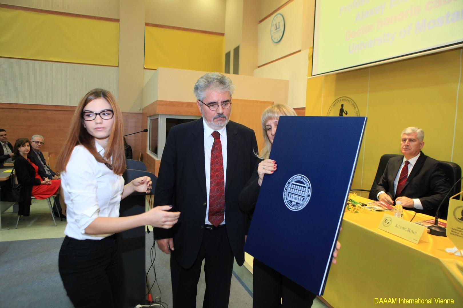 DAAAM_2016_Mostar_06_Professor_and_Cosmonaut_Alexey_Eliseev_Doctor_honors_causa_001
