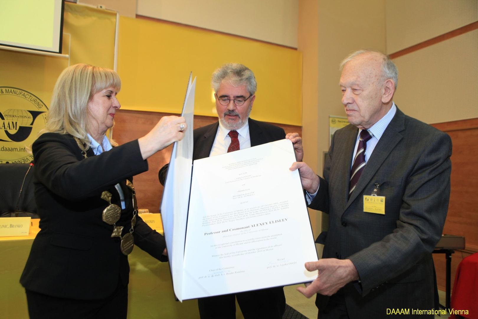 DAAAM_2016_Mostar_06_Professor_and_Cosmonaut_Alexey_Eliseev_Doctor_honors_causa_014